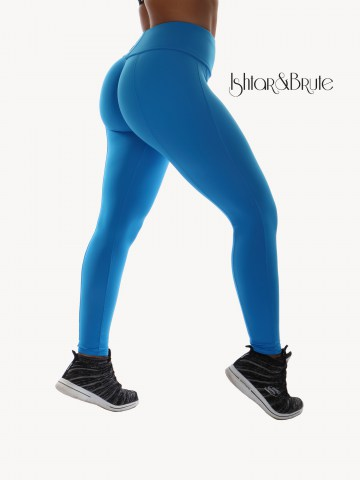 Ishtar and Brute Cheeks pants seamless front light blue matt spandex 3